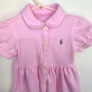 RL Pink Polo Dress w/Buttons